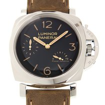 パネライ (Panerai) Luminor Stainless Steel Black Manual Wind PAM00423