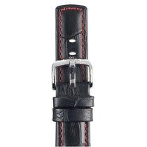 Hirsch Uhrenarmband Grand Duke schwarz XL 02528050-2-20 20mm