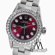 Rolex Oyster Perpetual 26mm Red Grape Index Diamond Watch