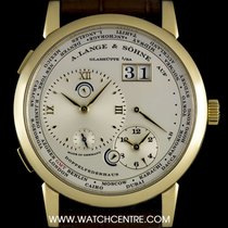 A. Lange & Söhne 18k Yellow Gold Silver Dial Time Zone 1...