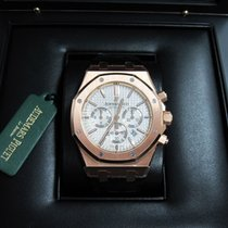 Audemars Piguet Royal Oak Chronograph 18K Rose Gold/White...
