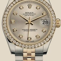 Rolex Datejust 31 mm, steel, yellow gold and diamonds