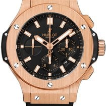 Hublot Big Bang 44 mm Evolution 18K Rose Gold Rubber Chronogra...