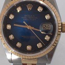 Rolex Datejust 36mm Two Tone Blue Vignette Diamond Dial