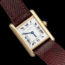 Cartier 1979 Vintage Ladies Tank Watch with Deployment Buckle...