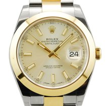 Rolex DateJust II 18kt Yellow Gold/SS Silver Dial-126303