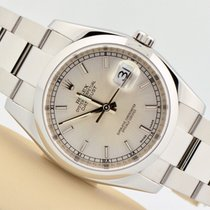Rolex Datejust Stainless Steel Smooth Bezel Silver Dial Oyster...