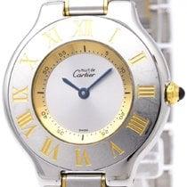 Cartier Polished Cartier Must 21 Gold Plated Steel Quartz...