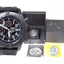 Breitling Mens Breitling Super Avenger Black Steel Limited...