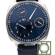 Ressence Type 1.3 Squared Blue Dial Blue Calfskin Strap