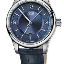 Oris Classic Date Automatic Blue Leather Strap Men's Watch