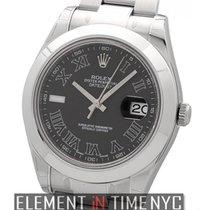 Rolex Datejust II Stainless Steel Black Roman Dial