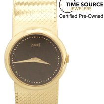 Piaget 18K Yellow Gold Hand-Winding Black Dial 23mm 922 B2 Watch