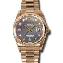Rolex Unworn 118205dkmdp Rose Gold President Day Date 36mm -...