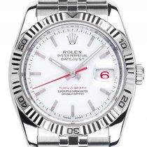 Rolex Datejust Turn-O-Graph Stahl Weißgold Automatik Armband...