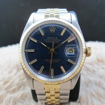 Rolex DATEJUST 1601 2-Tone ORIGINAL Glossy Blue Dial with...