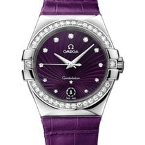 Omega Constellation Purple Quartz 35mm Ladies Watch