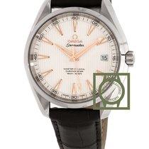 Omega Seamaster Aqua Terra 150 co-axial silver dial leather