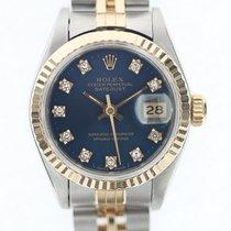 Rolex Lady Datejust acc oro zaffiro Diamanti art. RL678w