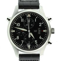 IWC IW377801 Pilot Double Chronograph Automatic Black Dial SS