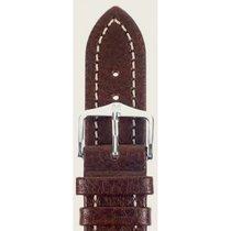 Hirsch Uhrenarmband Leder Buffalo braun M 11350215-2-22 22mm