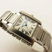 Cartier Tank francaise in acciao ref 2302 automatic box &...