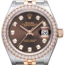 Rolex Lady-Datejust 28 279381RBR Choco Diamant Jubile-Band