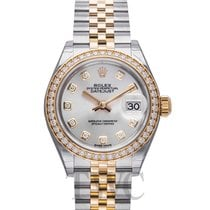 Rolex Lady Datejust Silver Steel/18k Yellow Gold Dia 28mm -...