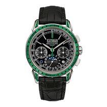 Patek Philippe Perpetual Calendar Chronograph Emerald Diamond...