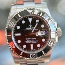 Rolex Mens Stainless Steel Submariner Black Ceramic 116610...