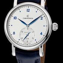 Chronoswiss Sirius Manufacture Steel-Silver & Blue Dial...