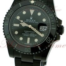 Rolex Submariner, Black Dial, Ceramic Bezel - Black PVD Steel...