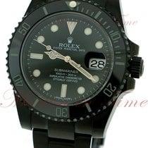 Rolex Submariner, Black Dial, Ceramic Bezel - Black PVD Steel...