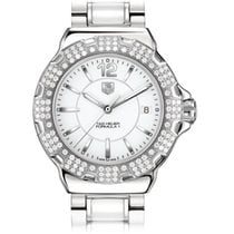 TAG Heuer FORMULA 1 LADIES WHITE DIAL,STEEL AND CERAMIC BRACELET