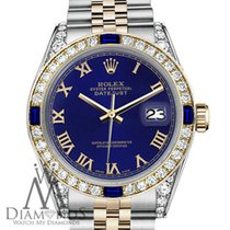 Rolex 31mm Datejust 2tone Blue Roman Numeral Dial With...