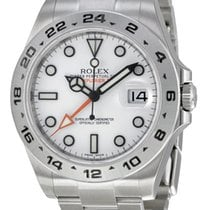 Rolex Explorer II White dial Stainless Steel GMT 216570 WSO