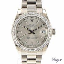 Rolex Datejust Medium White Gold President/ Diamond Bezel