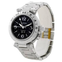 Cartier Pasha C GMT Black Dial Steel Automatic Unisex Watch...