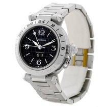 Cartier Pasha C GMT Black Dial Steel Automatic Unisex Watch...