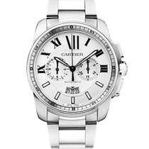 Cartier W7100045 Calibre de Cartier Chronograph - Steel on...