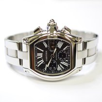 Cartier Roadster Chronograph 43mm Stainless Steel Mens Watch 2618