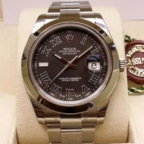Rolex Datejust II Black Roman Dial Smooth Bezel 41mm [NEW]