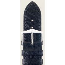 Hirsch Uhrenarmband Leder Highland schwarz L 04302050-2-24 24mm