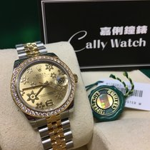 Rolex Cally - 178383 Datejust 31mm Champagne Flower Dial [NEW]