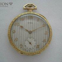 UTI 18 k gold antique pocket watch