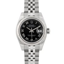 Rolex Datejust Ladies Black Dial, Ref: 179174, With Papers
