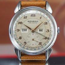 Movado Triple Date Breguet Dial Rare Vintage