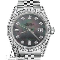 Rolex Woman's Rolex 36mm Datejust Black Mother Of Pearl...