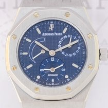 Audemars Piguet Royal Oak Dual Time Stahl blue Dial Steel...