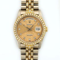 Rolex Day-Date 18K White And Yellow Gold Automatic Diamonds